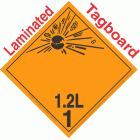 Explosive Class 1.2L NA or UN0358 International Wordless Tagboard DOT Placard