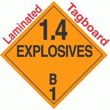 Explosive Class 1.4B NA or UN0361 Tagboard DOT Placard