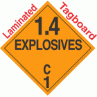 Explosive Class 1.4C NA or UN0351 Tagboard DOT Placard