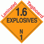 Explosive Class 1.6N NA or UN0486 Tagboard DOT Placard
