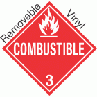 Standard Worded Combustible Class 3 Removable Vinyl Placard