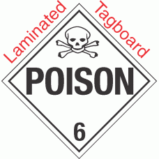 Standard Worded Poison Class 6.2 Laminated Tagboard Placard